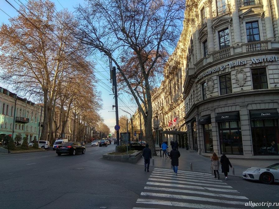 Достопримечательности Тбилиси проспект Руставели