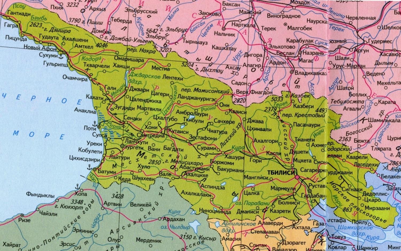 грузия на мировой карте фото может