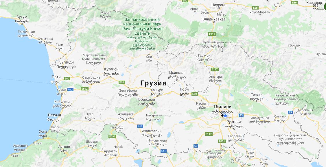Грузия на карте