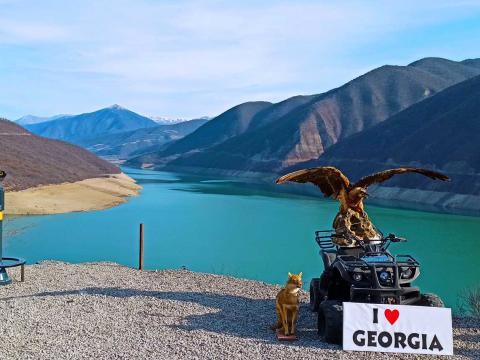 Жинвальское водохранилище, Ананури, Гергети, Казбеги