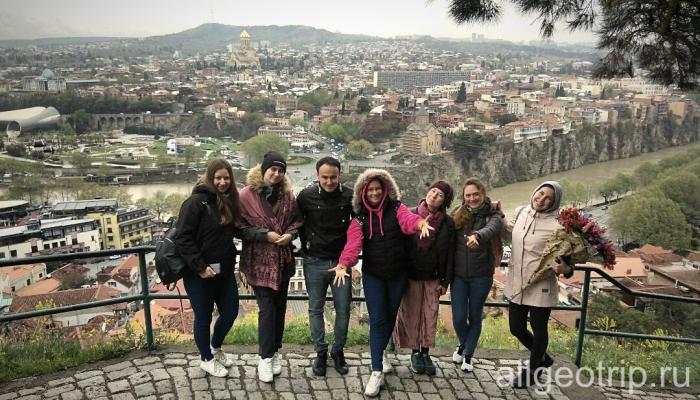 Дружеская прогулка в Тбилиси