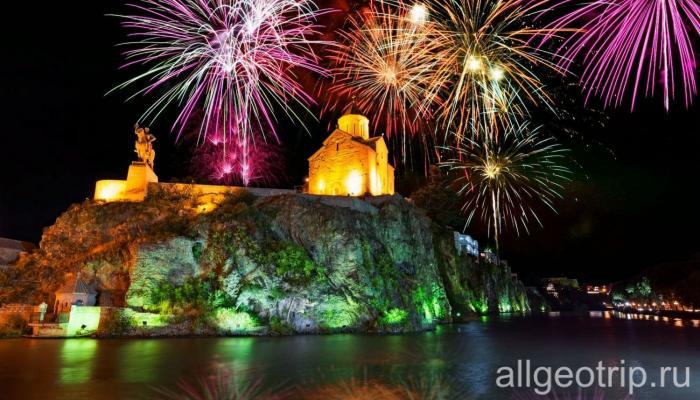 Новогодняя ночь в Тбилиси